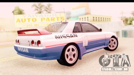 Nissan Skyline Group A para GTA San Andreas esquerda vista