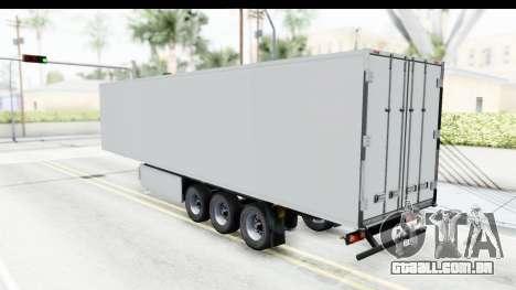 Trailer ETS2 v2 Old Skin 2 para GTA San Andreas traseira esquerda vista