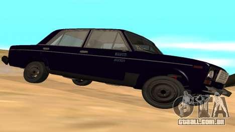 VAZ-2106 para GVR versão inicial para GTA San Andreas vista direita