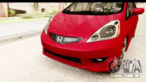 Honda Fit Sport 2009 para GTA San Andreas vista superior