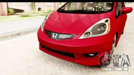 Honda Fit Sport 2009 para GTA San Andreas vista superior