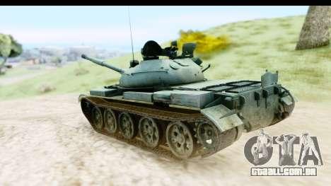 T-62 Wood Camo v1 para GTA San Andreas esquerda vista