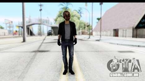 Payday 2 - Bodhi with Mask para GTA San Andreas segunda tela