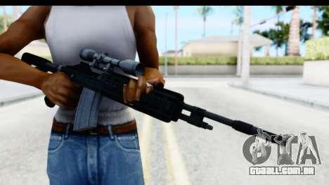 GTA 5 Vom Feuer Marksman Rifle para GTA San Andreas terceira tela