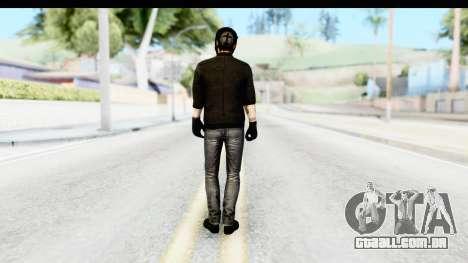 Payday 2 - Bodhi with Mask para GTA San Andreas terceira tela