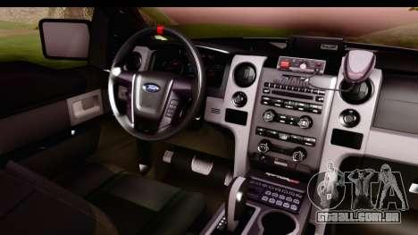 Ford F-150 Policia Federal para GTA San Andreas vista interior