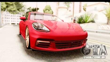 Porsche Panamera 4S 2017 v5 para GTA San Andreas vista direita