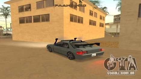 Super Sultan para GTA San Andreas traseira esquerda vista