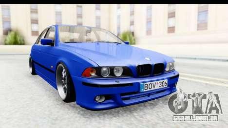 BMW 525i E39 M Tech para GTA San Andreas traseira esquerda vista