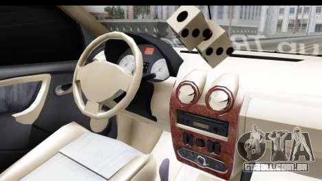 Dacia Logan Coil para GTA San Andreas vista interior