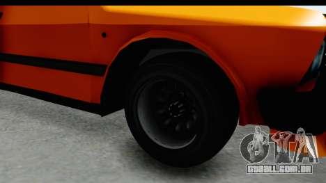 Zastava Yugo Koral 55 Race para GTA San Andreas vista traseira