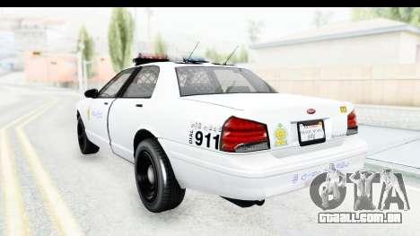 Sri Lanka Police Car v3 para GTA San Andreas esquerda vista