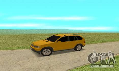 BMW X5 para GTA San Andreas traseira esquerda vista