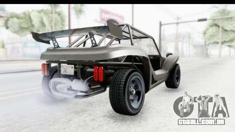 GTA 5 BF Bifta v2 IVF para GTA San Andreas traseira esquerda vista