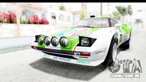 GTA 5 Lampadati Tropos Rallye para GTA San Andreas vista inferior