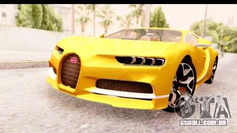 Bugatti Chiron 2017 v2.0 Updated para GTA San Andreas vista direita