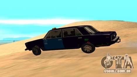 VAZ-2106 para GVR versão inicial para GTA San Andreas esquerda vista