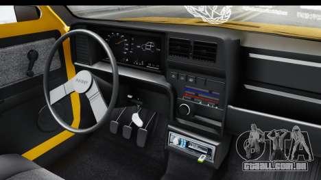 Fiat Spazio Tr Street para GTA San Andreas vista interior