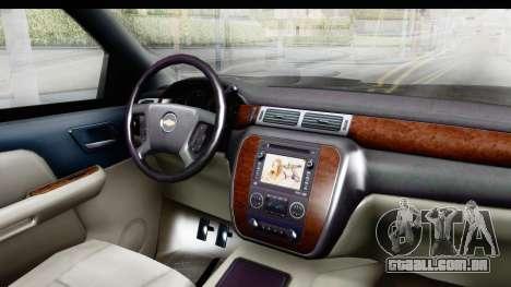 Chevrolet Silverado Duramax 2012 para GTA San Andreas vista interior
