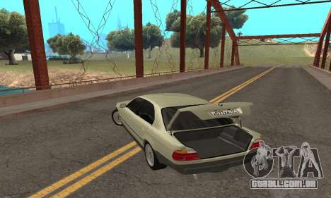 BMW 730 para GTA San Andreas vista superior