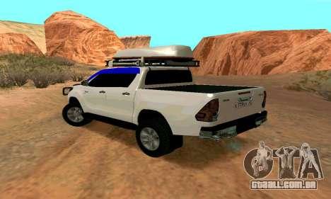 Toyota Hilux para GTA San Andreas esquerda vista