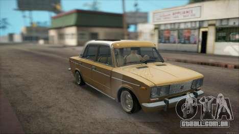VAZ 2106 Summer para GTA San Andreas vista traseira