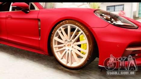 Porsche Panamera 4S 2017 v5 para GTA San Andreas vista traseira