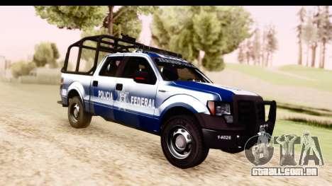 Ford F-150 Policia Federal para GTA San Andreas vista direita