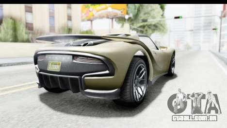 GTA 5 Pfister 811 IVF para GTA San Andreas esquerda vista