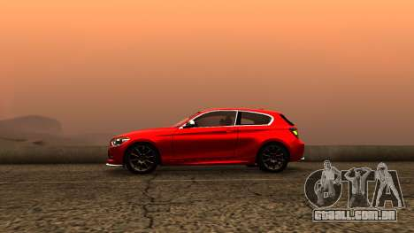 BMW M135i ISlaite Edition para GTA San Andreas traseira esquerda vista