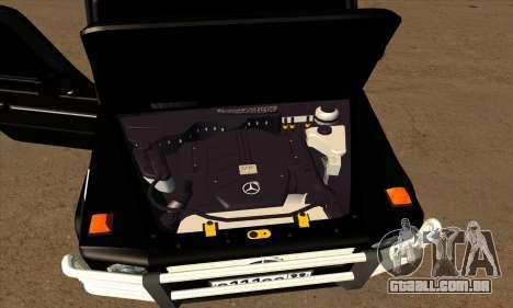 1999 Mercedes-Benz G55 AMG Brabus para GTA San Andreas vista inferior