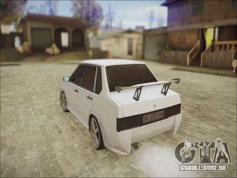 VAZ 21099 Kolxz para GTA San Andreas vista traseira