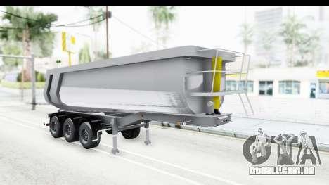 Trailer Volvo Dumper para GTA San Andreas traseira esquerda vista
