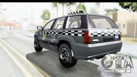 GTA 5 Canis Seminole Taxi para GTA San Andreas esquerda vista