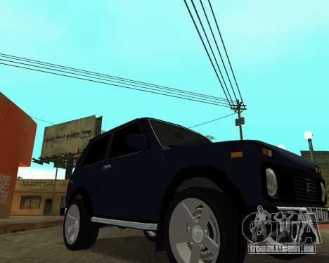 Niva 2121 Armenian para GTA San Andreas vista traseira