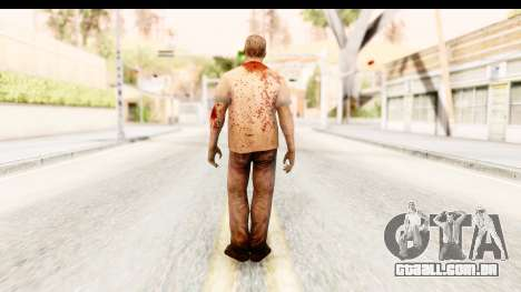 Left 4 Dead 2 - Zombie T-Shirt para GTA San Andreas terceira tela