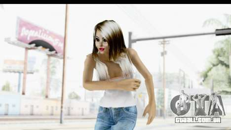 Silverblk White Top para GTA San Andreas