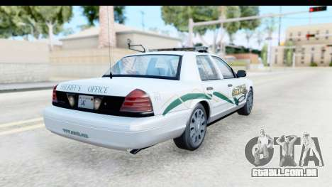 Ford Crown Victoria 2009 Southern Justice para GTA San Andreas traseira esquerda vista