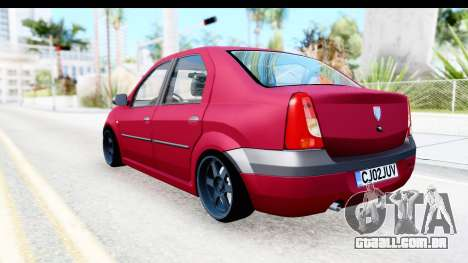 Dacia Logan Editie para GTA San Andreas esquerda vista