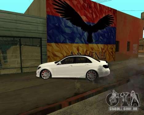 Mercedes-Benz E250 Armenian para o motor de GTA San Andreas