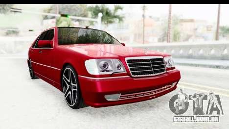 Mercedes-Benz W140 S600 AMG para GTA San Andreas