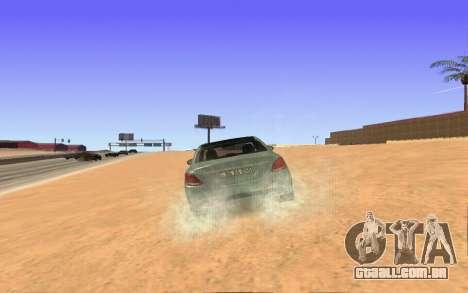 Mercedes-Benz C250 Armenian para GTA San Andreas traseira esquerda vista
