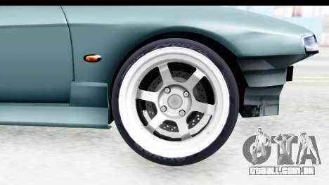 Nissan Silvia S14 Low and Slow para GTA San Andreas vista traseira