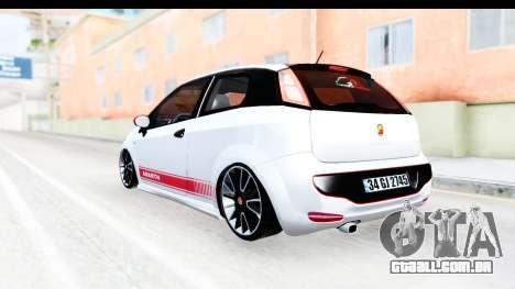 Fiat Punto Abarth para GTA San Andreas vista direita