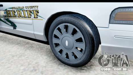 Ford Crown Victoria 2009 Southern Justice para GTA San Andreas vista traseira