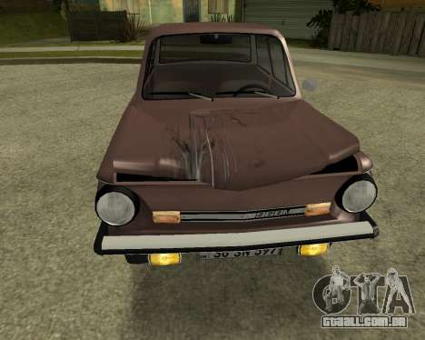 ZAZ 968M Arménia para GTA San Andreas vista superior