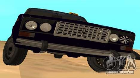 VAZ-2106 para GVR versão inicial para GTA San Andreas vista traseira