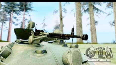 T-62 Wood Camo v1 para GTA San Andreas vista traseira