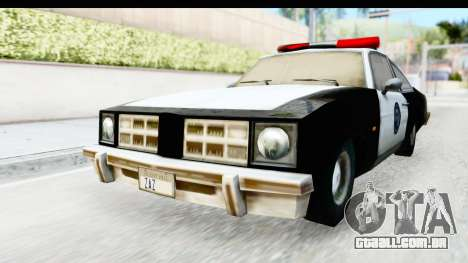 Pontiac Ventura LSPD from Silent Hill 2 para GTA San Andreas vista direita