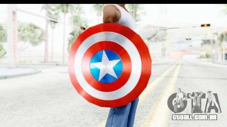 Capitan America Shield AoU para GTA San Andreas terceira tela